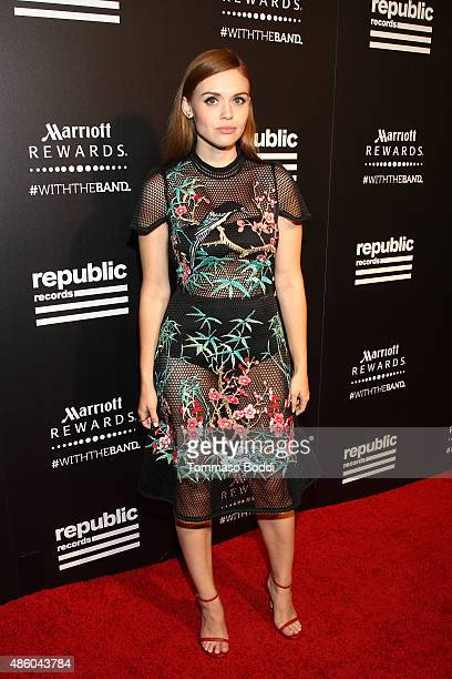 Actress Holland Roden attends Republic Records 2015 VMA after party at Ysabel on August 30 2015 in West Hollywood California