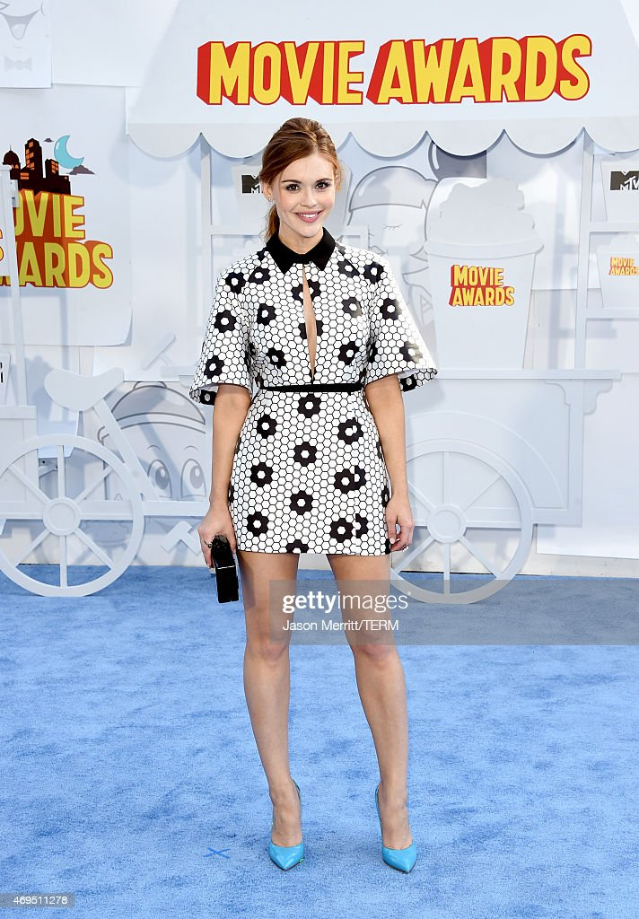 Actress Holland Roden attends The 2015 MTV Movie Awards at Nokia Theatre LA Live on April 12 2015 in Los Angeles California