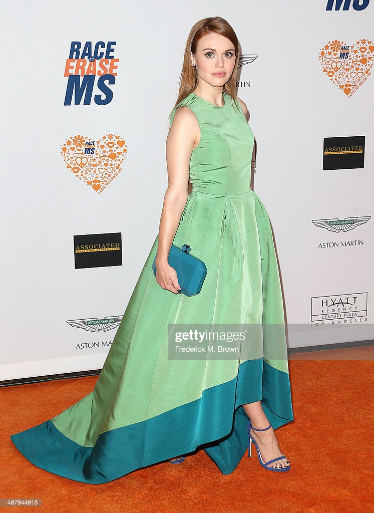 Actress <a gi-track='captionPersonalityLinkClicked' href=/galleries/search?phrase=Holland+Roden&family=editorial&specificpeople=5578822 ng-click='$event.stopPropagation()'>Holland Roden</a> attends the 21st Annual Race to Erase MS at the Hyatt Regency Century Plaza Hotel on May 2, 2014 in Century City, California.