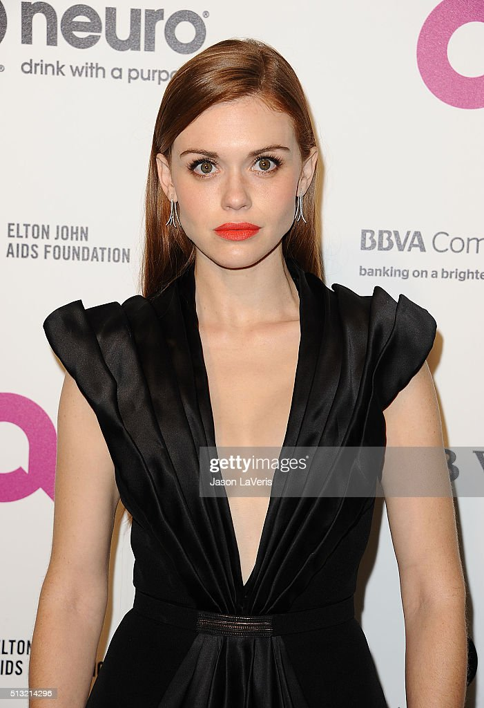 Actress Holland Roden attends the 24th annual Elton John AIDS Foundation's Oscar viewing party on February 28 2016 in West Hollywood California