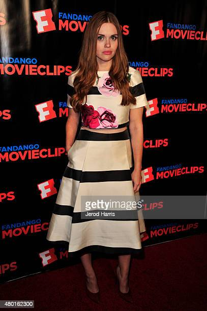 Actress Holland Roden attends the Fandango Movieclips ComicCon party during ComicCon International 2015 at Hilton Bayfront on July 9 2015 in San...