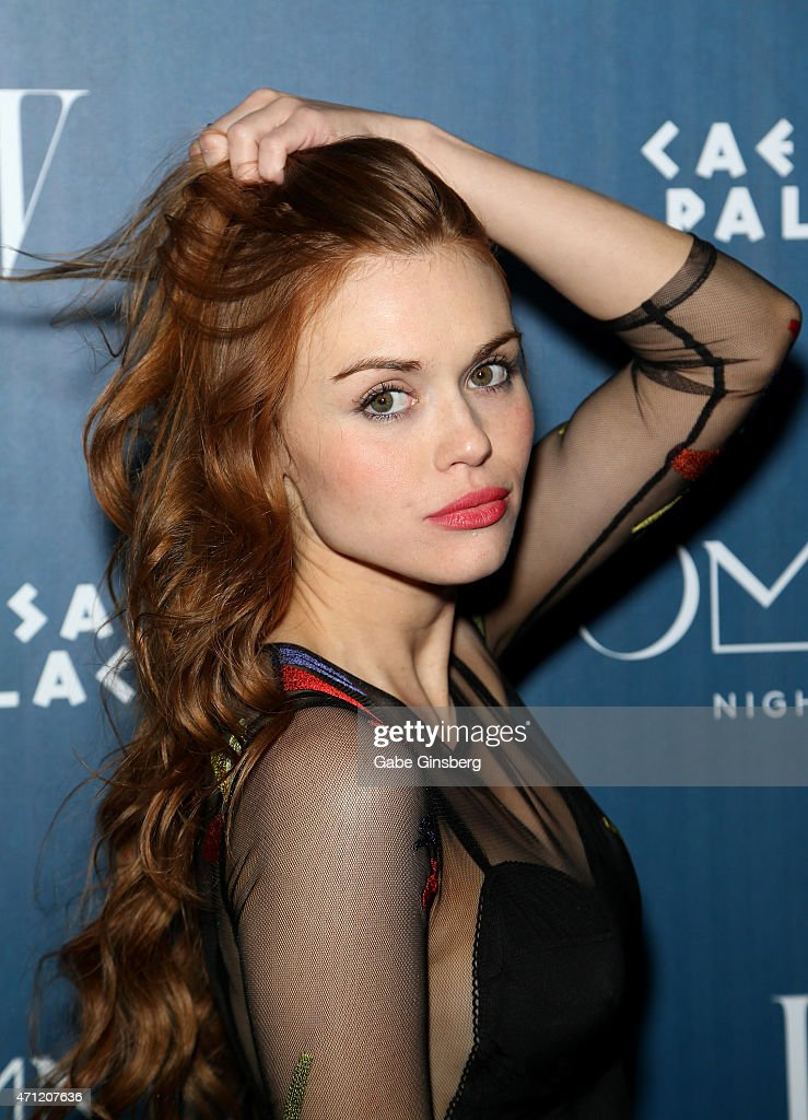 Actress Holland Roden attends the grand opening weekend at Omnia Nightclub at Caesars Palace on April 26 2015 in Las Vegas Nevada