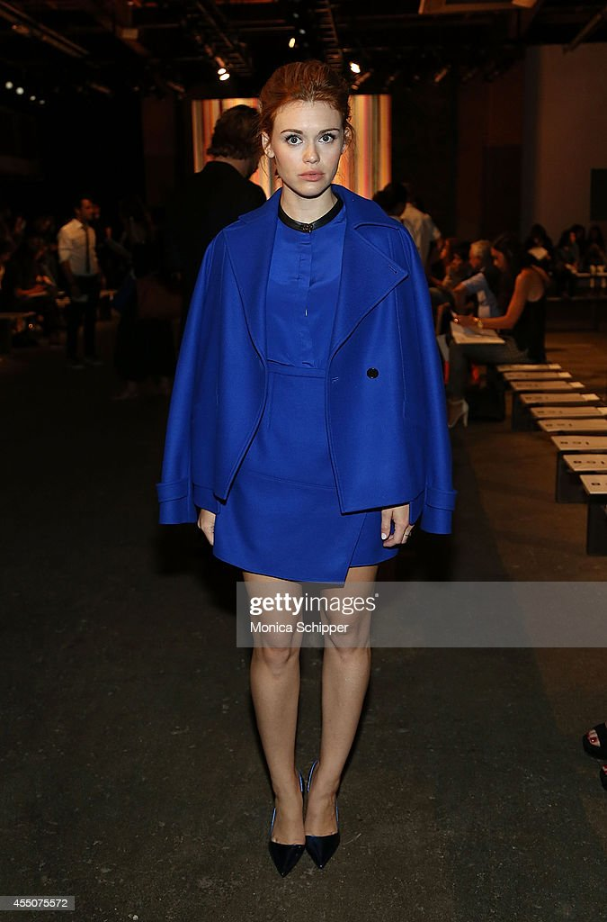 Actress Holland Roden attends the ICB fashion show during MercedesBenz Fashion Week Spring 2015 at Art Beam on September 9 2014 in New York City