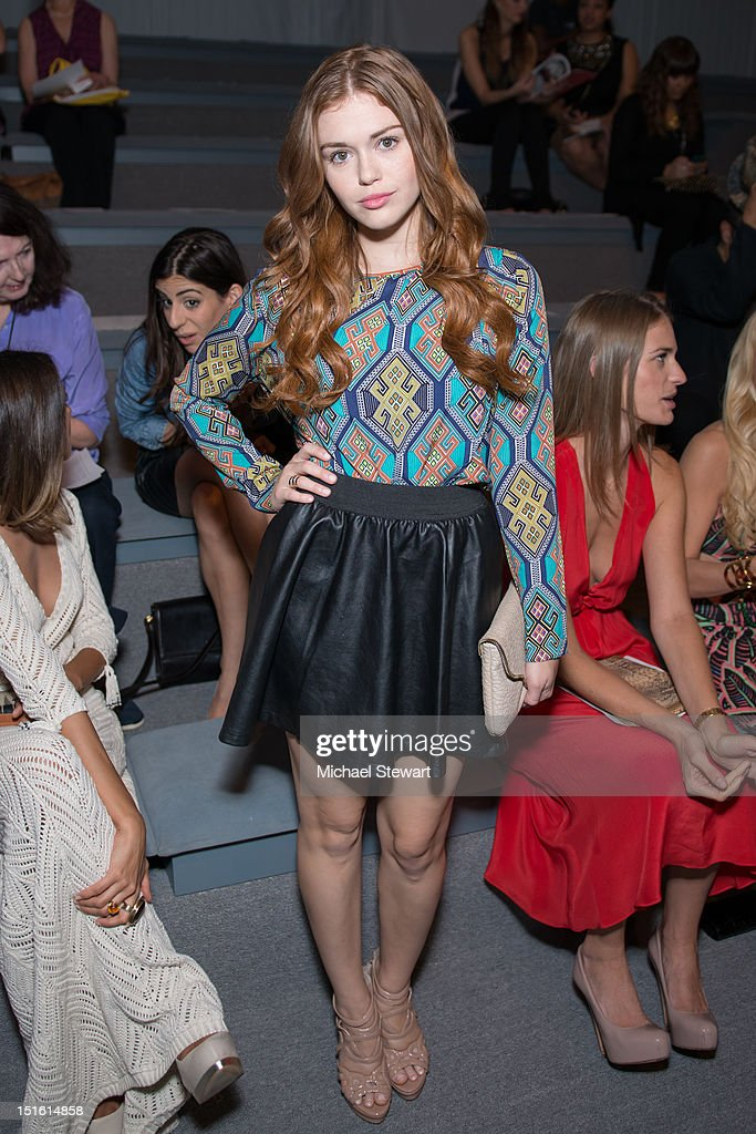 Actress Holland Roden attends the Mara Hoffman show during Spring 2013 Mercedes-Benz Fashion Week at The Stage Lincoln Center on September 8, 2012 in New York City.