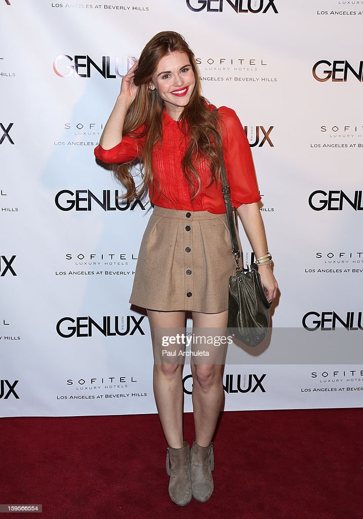 Actress Holland Roden attends the opening of the new bar Riviera 31 at the Sofitel L.A. Hotel on January 15, 2013 in Beverly Hills, California.