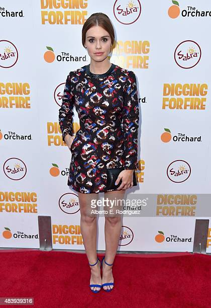 Actress Holland Roden attends the premiere of 'Digging for Fire' at The ArcLight Cinemas on August 13 2015 in Hollywood California