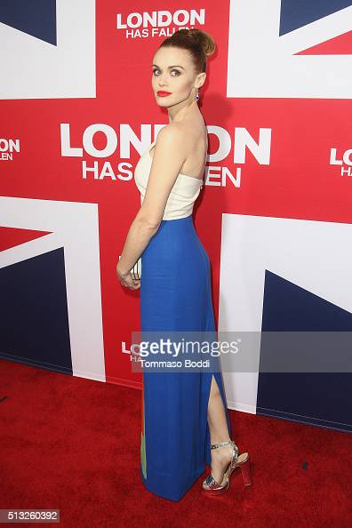 Actress Holland Roden attends the premiere of Focus Features' 'London Has Fallen' held at ArcLight Cinemas Cinerama Dome on March 1 2016 in Hollywood...