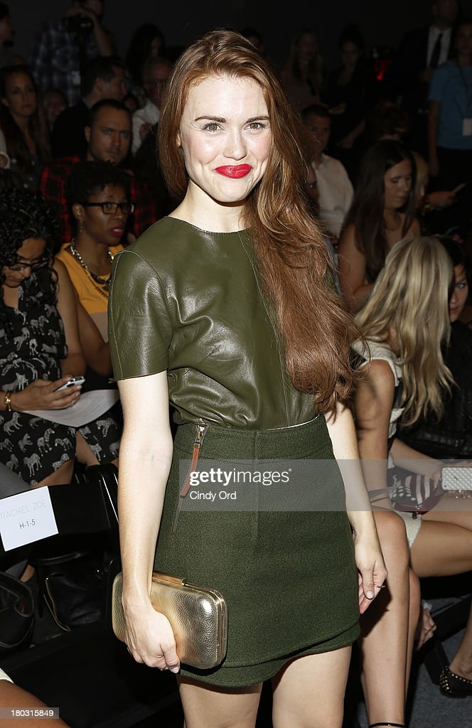 Actress Holland Roden attends the Rachel Zoe fashion show during Mercedes-Benz Fashion Week Spring 2014 at The Studio at Lincoln Center on September 11, 2013 in New York City.