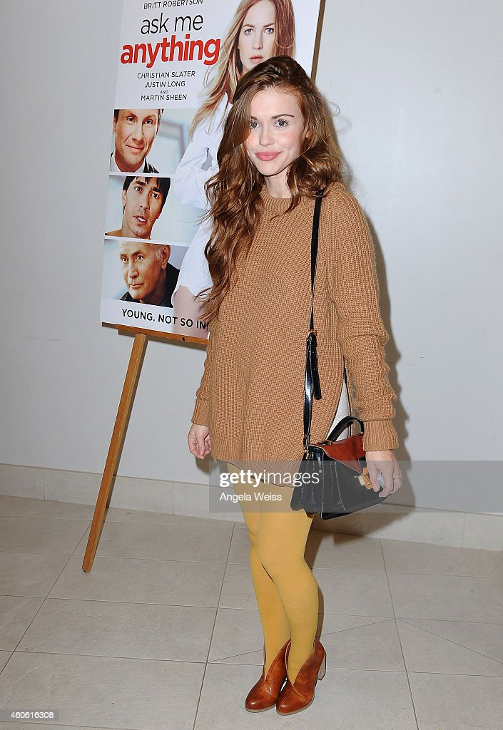 Actress Holland Roden attends the screening of 'Ask Me Anything' at Clarity Theater on December 17 2014 in Beverly Hills California