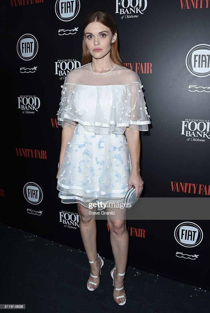 Actress Holland Roden attends Vanity Fair and FIAT Young Hollywood Celebration at Chateau Marmont on February 23 2016 in Los Angeles California