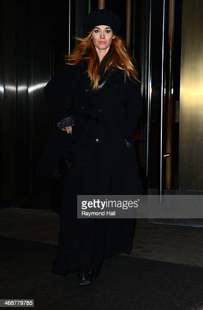 Actress Holland Roden is seen in Soho on February 11 2014 in New York City