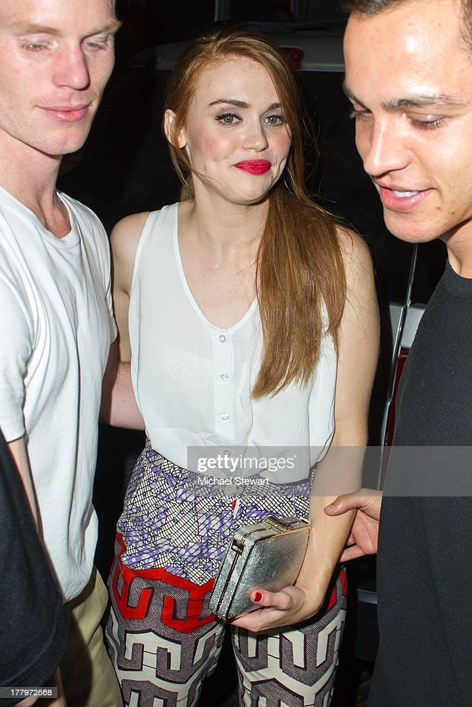 Actress <a gi-track='captionPersonalityLinkClicked' href=/galleries/search?phrase=Holland+Roden&family=editorial&specificpeople=5578822 ng-click='$event.stopPropagation()'>Holland Roden</a> seen on the streets of Manhattan on August 25, 2013 in New York City.