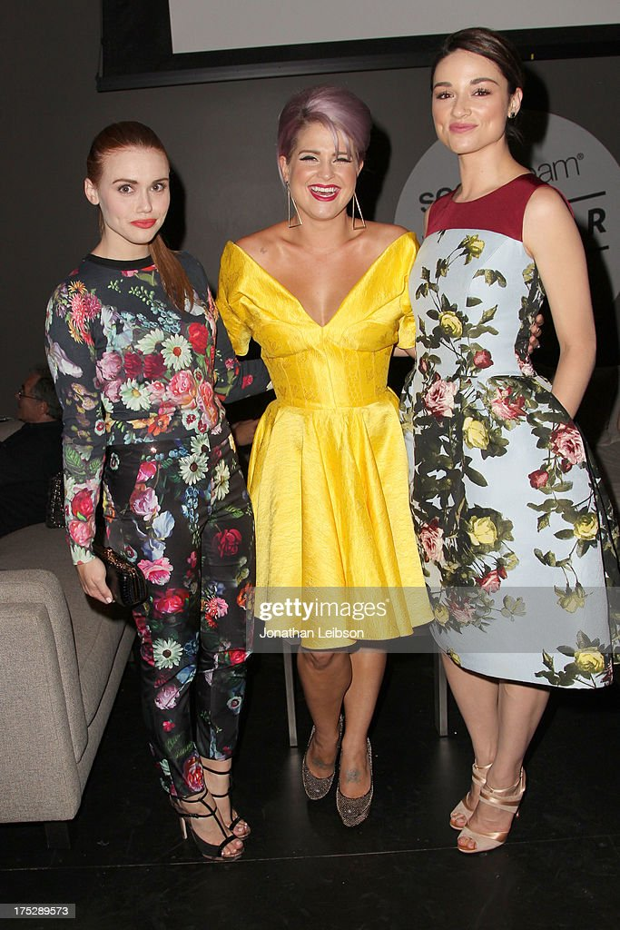 Actress Holland Roden, tv personality Kelly Osbourne and actress Crystal Reed attend CW Network's 2013 Young Hollywood Awards presented by Crest 3D White and SodaStream held at The Broad Stage on August 1, 2013 in Santa Monica, California.