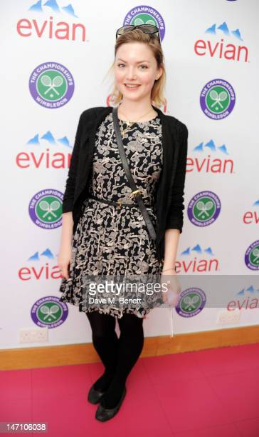 Actress Holliday Grainger attends the evian 'Live young' VIP Suite at Wimbledon on June 25 2012 in London England