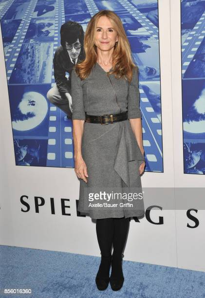 Actress Holly Hunter arrives at the HBO Premiere of 'Spielberg' at Paramount Studios on September 26 2017 in Hollywood California
