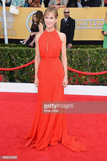 Actress Holly Hunter attends the 20th Annual Screen Actors Guild Awards at The Shrine Auditorium on January 18 2014 in Los Angeles California