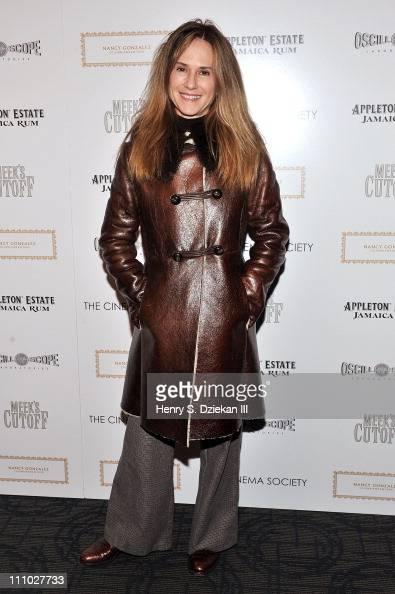 Actress Holly Hunter attends The Cinema Society Nancy Gonzalez screening of 'Meek's Cutoff' at Landmark Sunshine Cinema on March 28 2011 in New York...