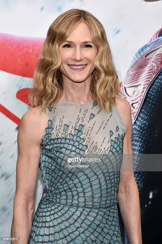 Actress <a gi-track='captionPersonalityLinkClicked' href=/galleries/search?phrase=Holly+Hunter&family=editorial&specificpeople=201880 ng-click='$event.stopPropagation()'>Holly Hunter</a> attends the launch of Bai Superteas at the 'Batman v Superman: Dawn of Justice' premiere on March 20, 2016 in New York City.