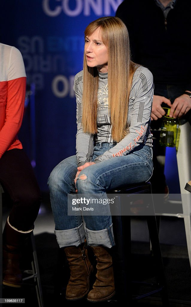 Actress <a gi-track='captionPersonalityLinkClicked' href=/galleries/search?phrase=Holly+Hunter&family=editorial&specificpeople=201880 ng-click='$event.stopPropagation()'>Holly Hunter</a> attends the press conference for Sundance Channel original series 'Top of the Lake' on January 21, 2013 in Park City, Utah.