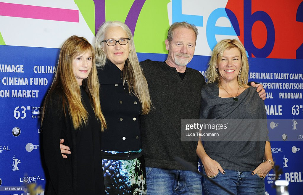 Actress Holly Hunter, director Jane Campion and actors Peter Mullan and Robyn Malcolm attends the 'Top Of The Lake' Press Conference during the 63rd Berlinale International Film Festival at the Grand Hyatt Hotel on February 11, 2013 in Berlin, Germany.
