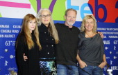 Actress Holly Hunter director Jane Campion and actors Peter Mullan and Robyn Malcolm attends the 'Top Of The Lake' Press Conference during the 63rd...