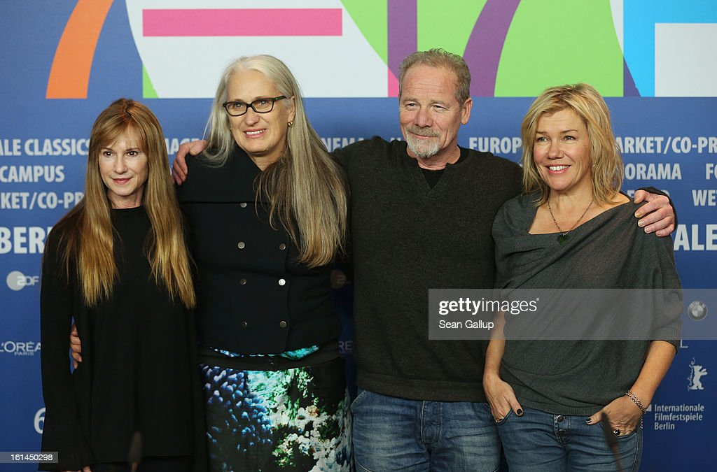 Actress <a gi-track='captionPersonalityLinkClicked' href=/galleries/search?phrase=Holly+Hunter&family=editorial&specificpeople=201880 ng-click='$event.stopPropagation()'>Holly Hunter</a>, director <a gi-track='captionPersonalityLinkClicked' href=/galleries/search?phrase=Jane+Campion&family=editorial&specificpeople=616530 ng-click='$event.stopPropagation()'>Jane Campion</a> and actors <a gi-track='captionPersonalityLinkClicked' href=/galleries/search?phrase=Peter+Mullan&family=editorial&specificpeople=533010 ng-click='$event.stopPropagation()'>Peter Mullan</a> and <a gi-track='captionPersonalityLinkClicked' href=/galleries/search?phrase=Robyn+Malcolm&family=editorial&specificpeople=2433526 ng-click='$event.stopPropagation()'>Robyn Malcolm</a> attends the 'Top Of The Lake' Press Conference during the 63rd Berlinale International Film Festival at the Grand Hyatt Hotel on February 11, 2013 in Berlin, Germany.