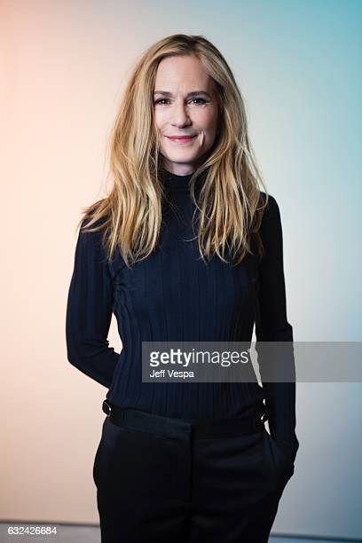 Actress Holly Hunter from the film 'The Big Sick' poses for a portrait in the WireImage Portrait Studio presented by DIRECTV on January 21 2017 in...