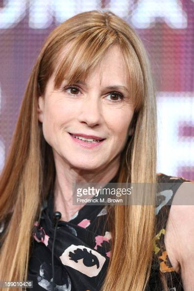 Actress Holly Hunter speaks onstage at the 'Top of the Lake' panel discussion during the Sundance Channel portion of the 2013 Winter TCA Tour Day 2...