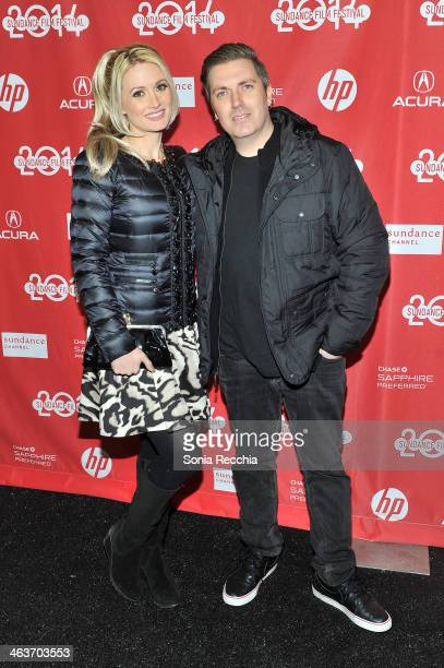 Actress Holly Madison and Producer Pasquale Rotella attend the 'Under The Electric Sky' premiere on January 18 2014 in Park City Utah