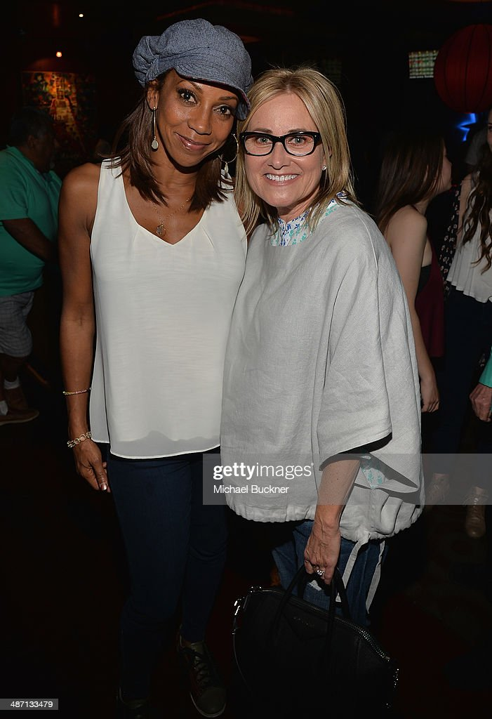 Actress Holly Robinson Peete (L) and actress Maureen McCormack attend Audi Best Buddies' Bowling For Buddies at Lucky Strike Lanes at L.A. Live on April 27, 2014 in Los Angeles, California.