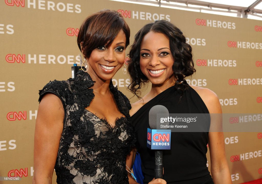 Actress Holly Robinson Peete and carpet hostess Nischelle Turner attend the CNN Heroes: An All Star Tribute at The Shrine Auditorium on December 2, 2012 in Los Angeles, California. 23046_004_SK_0048.JPG