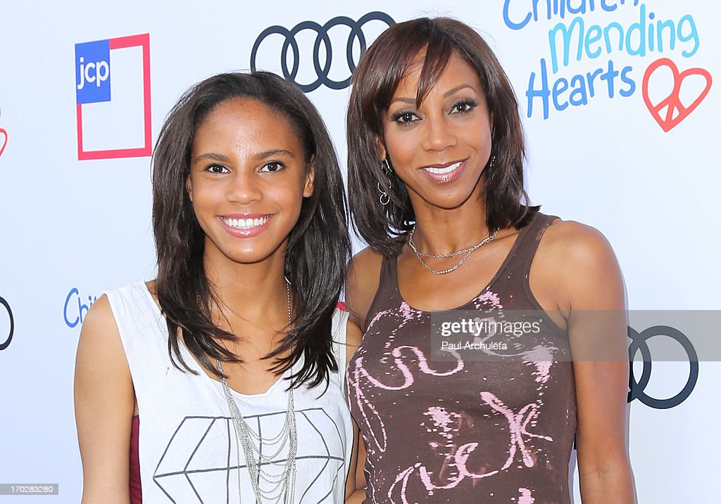Actress Holly Robinson Peete (R) and her Daughter Ryan Elizabeth Peete (L) attend the 1st annual Children Mending Hearts Style Sunday on June 9, 2013 in Beverly Hills, California.