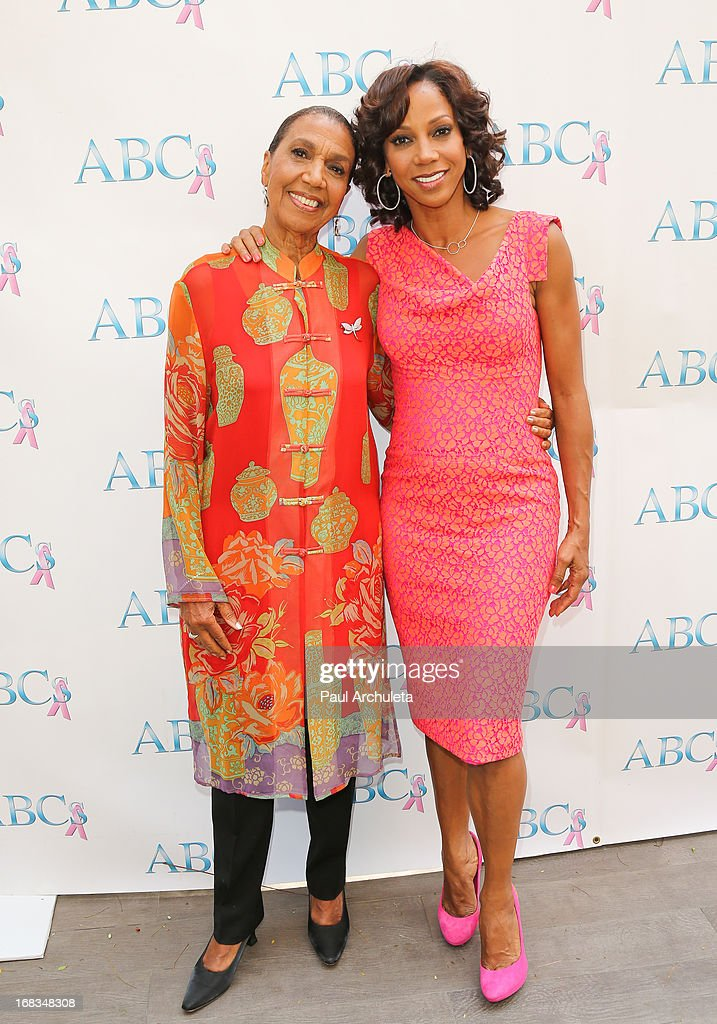 Actress Holly Robinson Peete (R) and her mother Dolores Robinson (L) attend ABC's Mother's Day luncheon at the Four Seasons Hotel Los Angeles at Beverly Hills on May 8, 2013 in Beverly Hills, California.