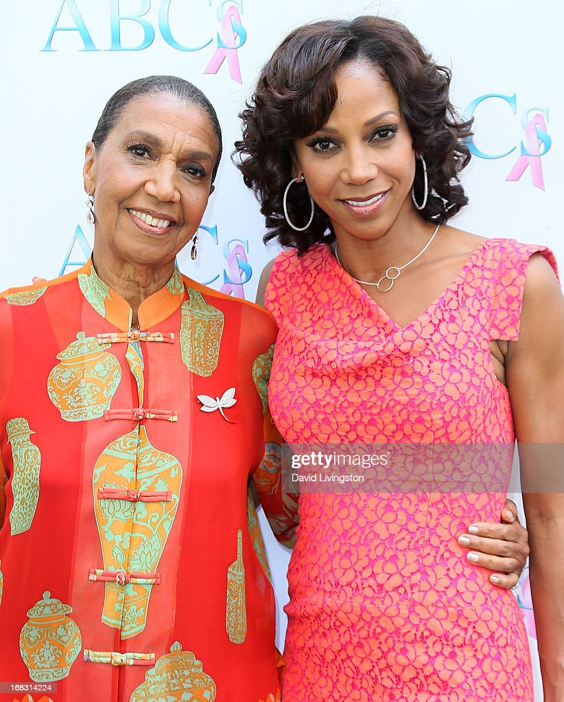 Actress Holly Robinson Peete (R) and mother Dolores Robinson attend The Associates For Breast and Prostate Cancer Studies' Annual Mother's Day Luncheon at the Four Seasons Hotel Los Angeles at Beverly Hills on May 8, 2013 in Beverly Hills, California.