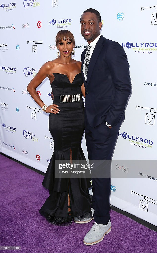 Actress <a gi-track='captionPersonalityLinkClicked' href=/galleries/search?phrase=Holly+Robinson+Peete&family=editorial&specificpeople=213716 ng-click='$event.stopPropagation()'>Holly Robinson Peete</a> (L) and NBA player <a gi-track='captionPersonalityLinkClicked' href=/galleries/search?phrase=Dwyane+Wade&family=editorial&specificpeople=201481 ng-click='$event.stopPropagation()'>Dwyane Wade</a> attend the HollyRod Foundation's 16th Annual DesignCare at The Lot Studios on July 19, 2014 in Los Angeles, California.