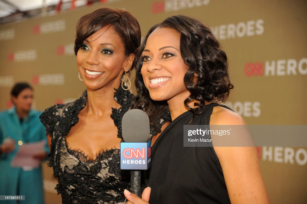 Actress Holly Robinson Peete (L) and red carpet hostess Nischelle Turner attend the CNN Heroes: An All Star Tribute at The Shrine Auditorium on December 2, 2012 in Los Angeles, California. 23046_004_KM_0346.JPG