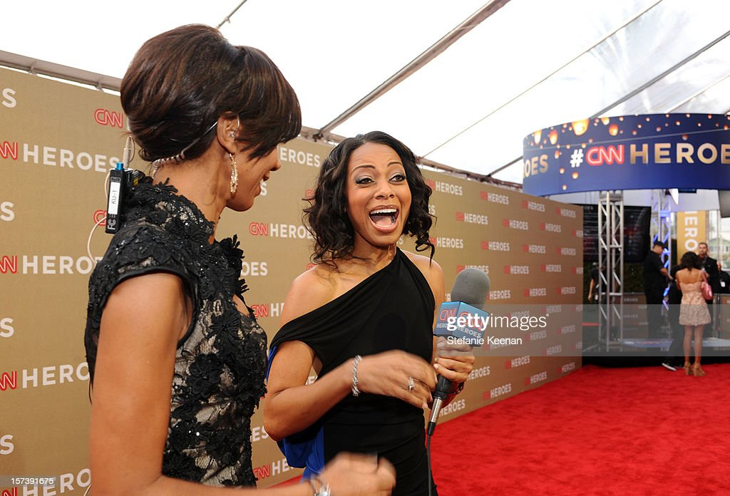 Actress Holly Robinson Peete and red carpet hostess Nischelle Turner attend the CNN Heroes: An All Star Tribute at The Shrine Auditorium on December 2, 2012 in Los Angeles, California. 23046_004_SK_0045.JPG
