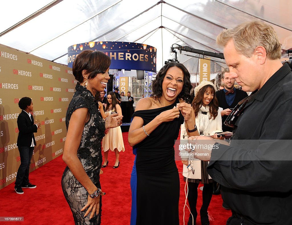 Actress Holly Robinson Peete and red carpet hostess Nischelle Turner attend the CNN Heroes: An All Star Tribute at The Shrine Auditorium on December 2, 2012 in Los Angeles, California. 23046_004_SK_0039.JPG