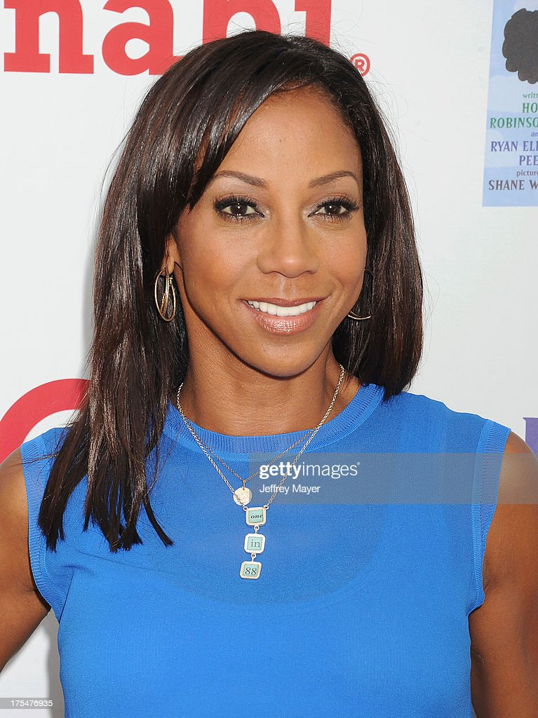 Actress <a gi-track='captionPersonalityLinkClicked' href=/galleries/search?phrase=Holly+Robinson+Peete&family=editorial&specificpeople=213716 ng-click='$event.stopPropagation()'>Holly Robinson Peete</a> arrives at HollyRod Foundation's 4th Annual 'My Brother Charlie' Carnival at Culver Studios on August 3, 2013 in Culver City, California.