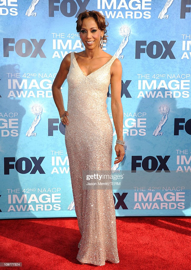 Actress Holly Robinson Peete arrives at the 42nd NAACP Image Awards held at The Shrine Auditorium on March 4 2011 in Los Angeles California