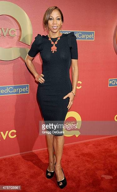 Actress Holly Robinson Peete arrives at the QVC 5th Annual Red Carpet Style event at The Four Seasons Hotel on February 28 2014 in Beverly Hills...