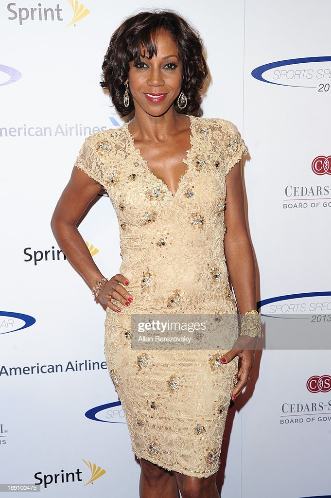 Actress <a gi-track='captionPersonalityLinkClicked' href=/galleries/search?phrase=Holly+Robinson+Peete&family=editorial&specificpeople=213716 ng-click='$event.stopPropagation()'>Holly Robinson Peete</a> arrives at the Sports Spectacular 28th Anniversary Gala at the Hyatt Regency Century Plaza on May 19, 2013 in Century City, California.