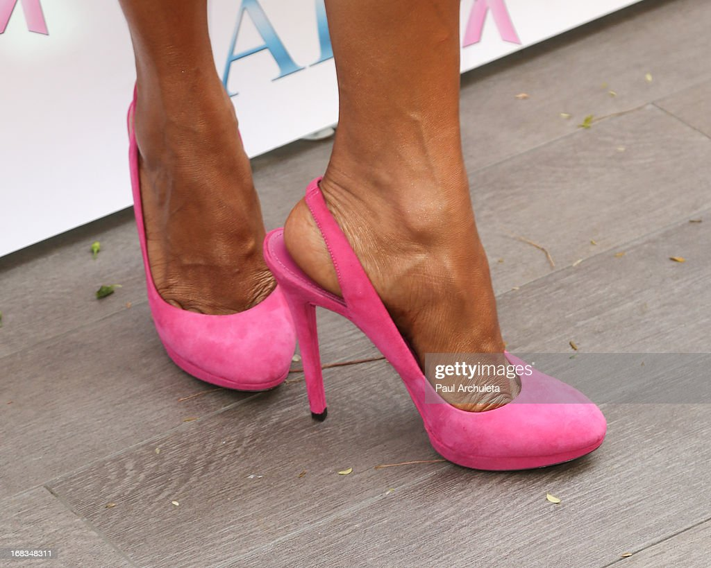 Actress Holly Robinson Peete (Shoe Detail) attends ABC's Mother's Day luncheon at the Four Seasons Hotel Los Angeles at Beverly Hills on May 8, 2013 in Beverly Hills, California.