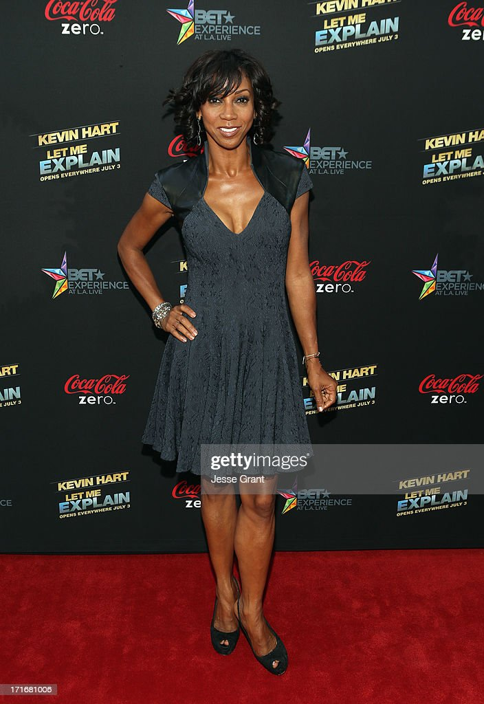 Actress Holly Robinson Peete attends Movie Premiere 'Let Me Explain' with Kevin Hart during the 2013 BET Experience at Regal Cinemas LA Live on June...