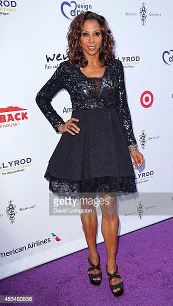 Actress Holly Robinson Peete attends the 17th Annual DesignCare Gala at The Lot Studios on August 8 2015 in Los Angeles California