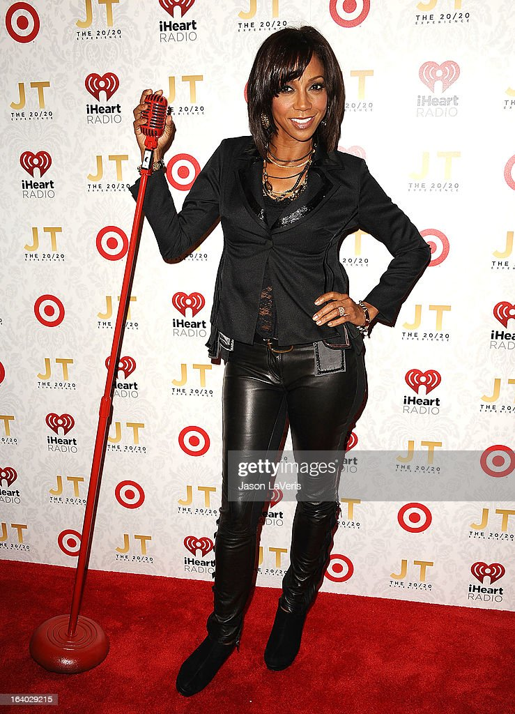 Actress Holly Robinson Peete attends the '20/20' album release party with Justin Timberlake at El Rey Theatre on March 18, 2013 in Los Angeles, California.