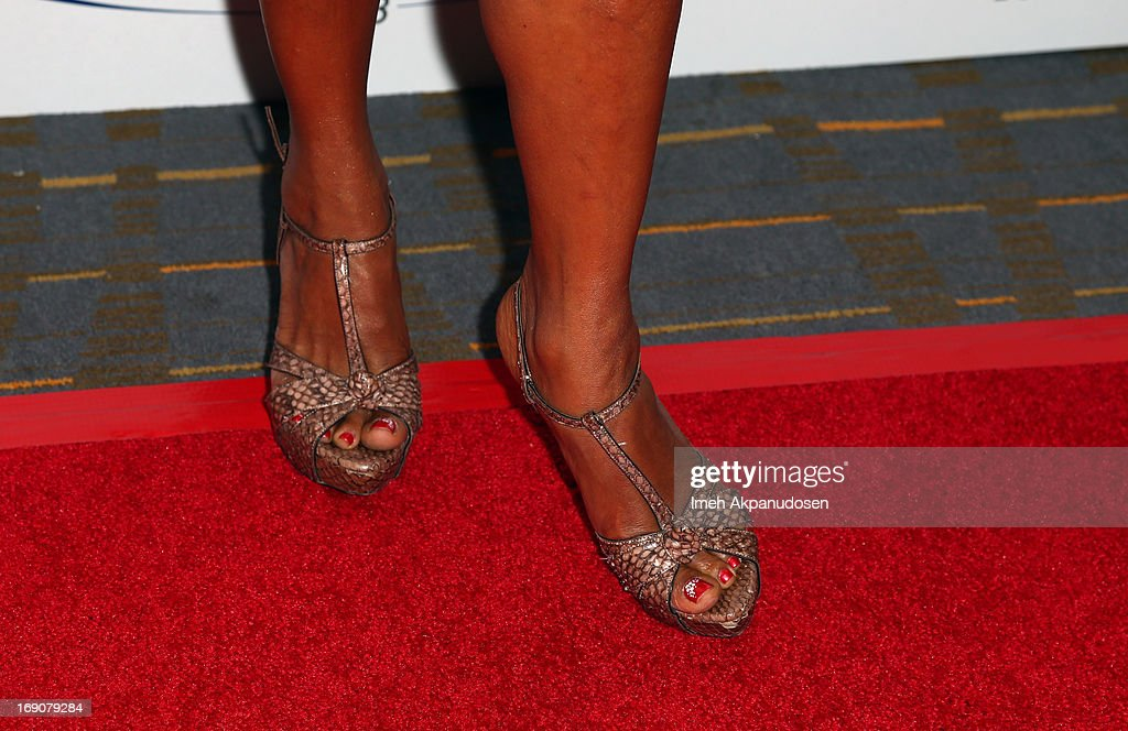Actress Holly Robinson Peete (shoe detail) attends the 28th Anniversary Sports Spectacular Gala at the Hyatt Regency Century Plaza on May 19, 2013 in Century City, California.