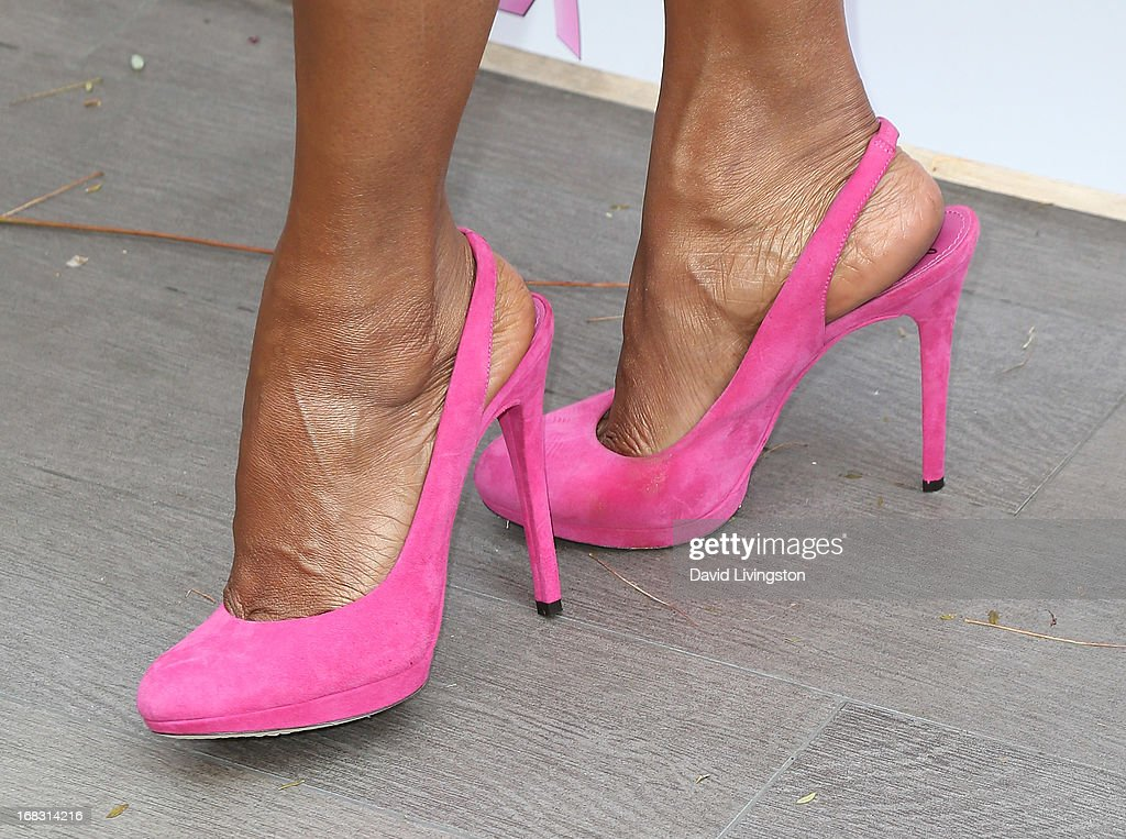 Actress Holly Robinson Peete (shoe detail) attends The Associates For Breast and Prostate Cancer Studies' Annual Mother's Day Luncheon at the Four Seasons Hotel Los Angeles at Beverly Hills on May 8, 2013 in Beverly Hills, California.