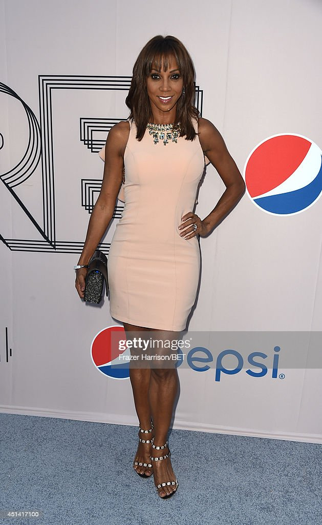 Actress <a gi-track='captionPersonalityLinkClicked' href=/galleries/search?phrase=Holly+Robinson+Peete&family=editorial&specificpeople=213716 ng-click='$event.stopPropagation()'>Holly Robinson Peete</a> attends the BET AWARDS '14 Debra Lee's Pre-Dinner held at Milk Studios on June 28, 2014 in Los Angeles, California.