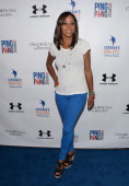 Actress Holly Robinson Peete attends the Clayton Kershaw's Inaugural Ping Pong 4 Purpose Charity Event Benefitting 'Kershaw's Challenge' at Dodger...